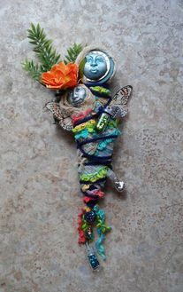 Mixed Media Art Doll   www.prettylittlethings.biz